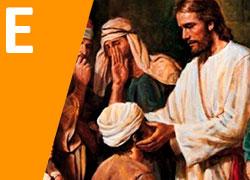 Jesús cura a un ciego