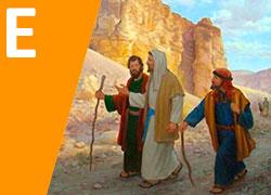Jesús con los discípulos de Emaús